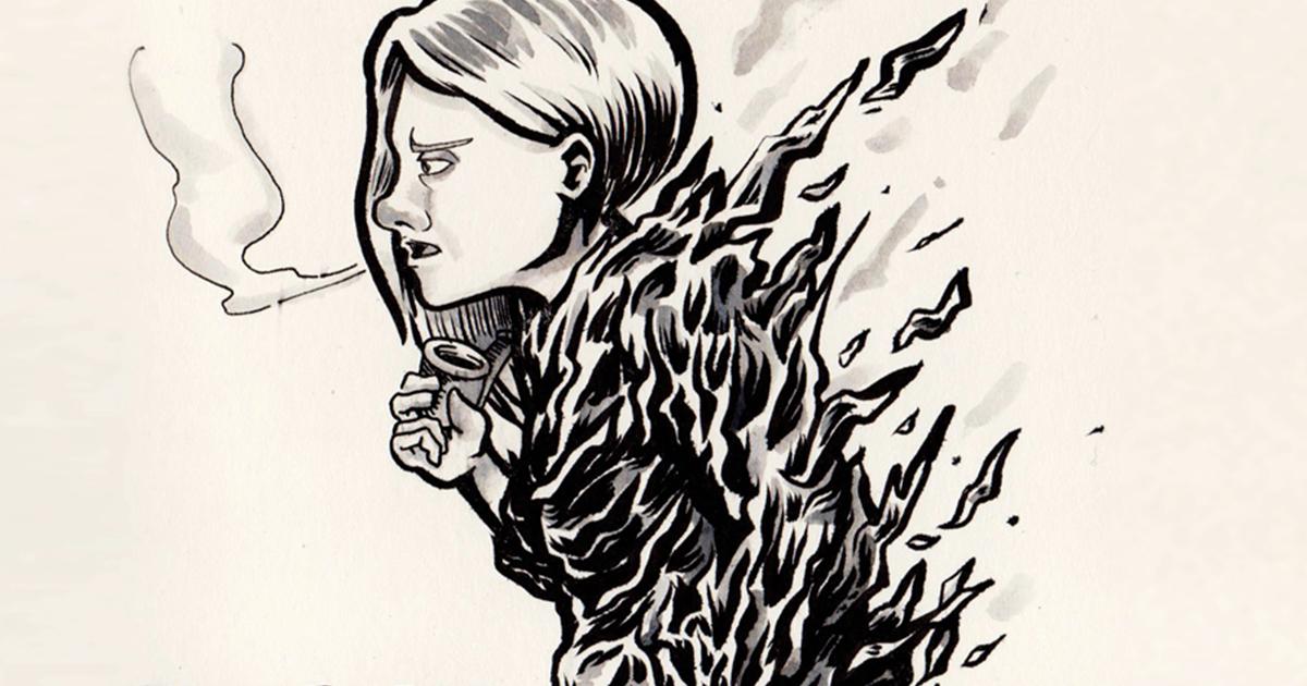 #Inktober 2018 : constance et encre diluée