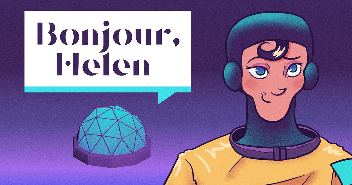Bonjour Helen, ma première participation à un jeu-vidéo !