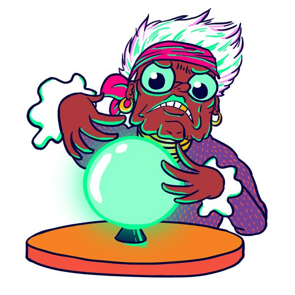 Topito illustration boule de cristal
