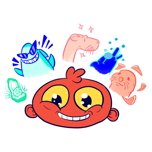 Topito illustration test animal