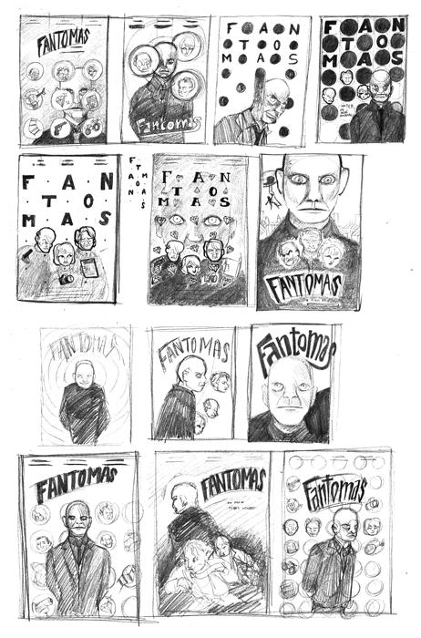 fantomas croquis poster