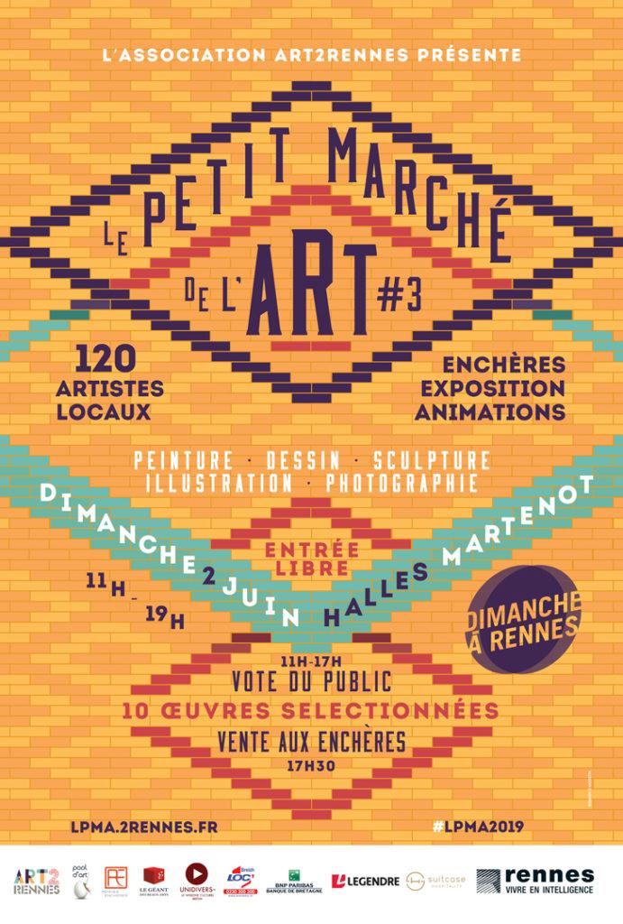 Affiche le petit marché de l'art