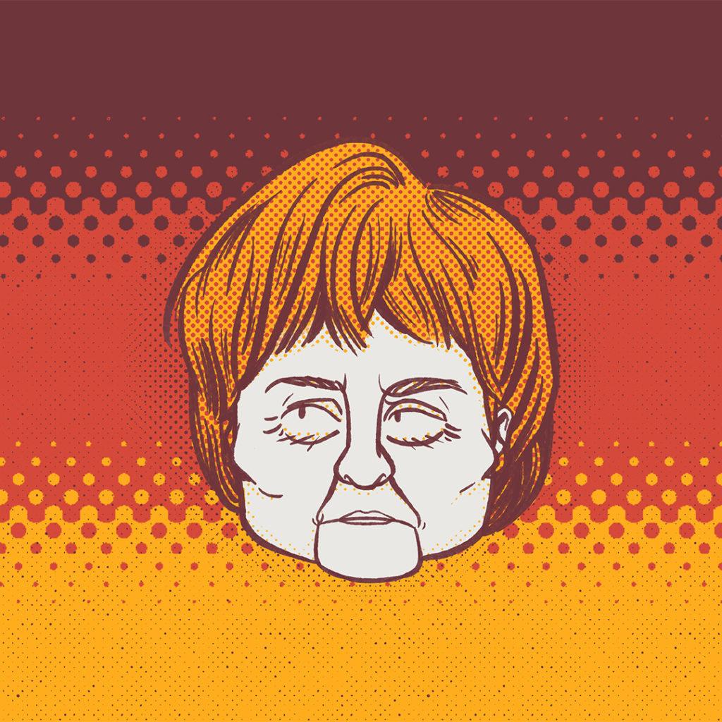 Illustration politique Merkel