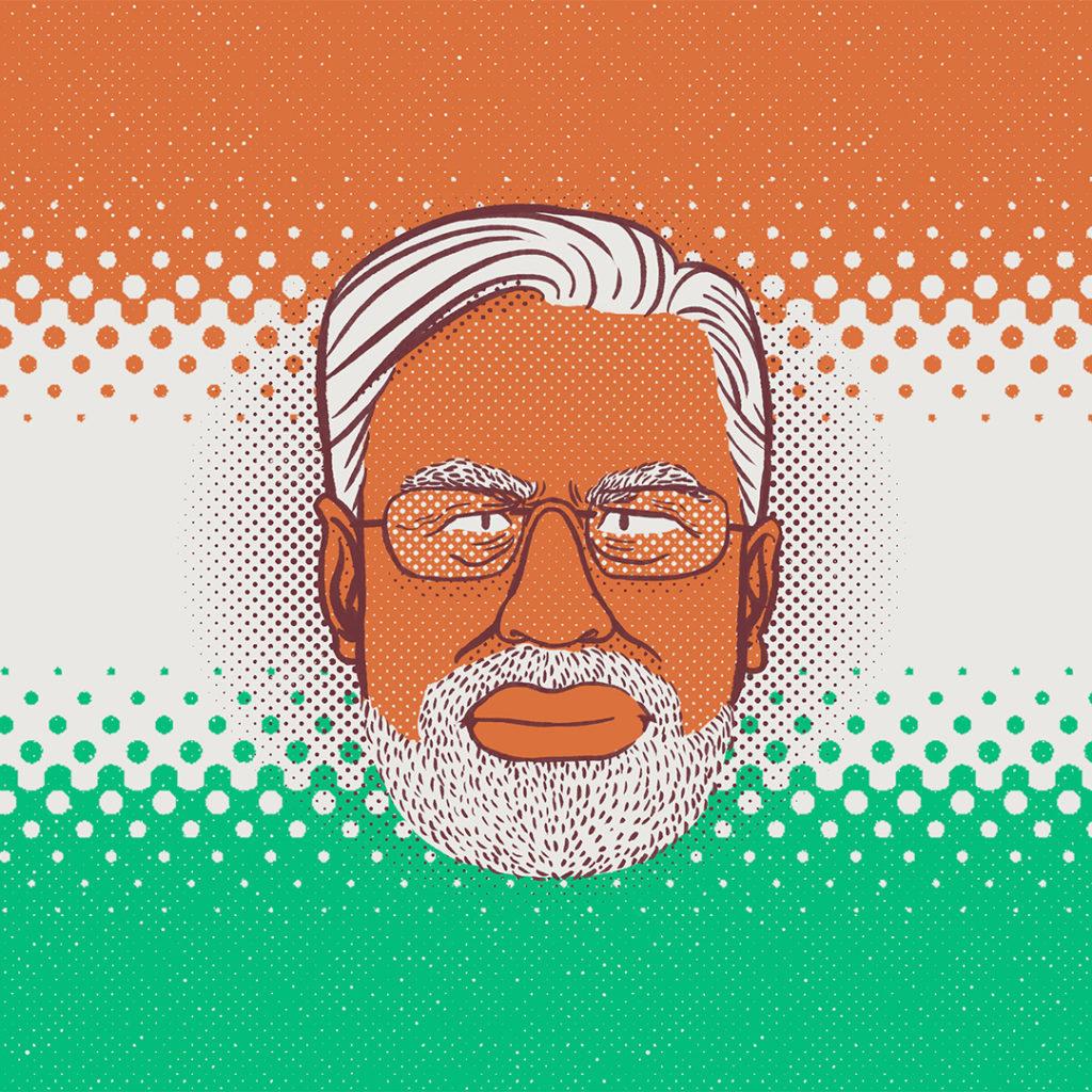 Illustration politique Narenda Modi