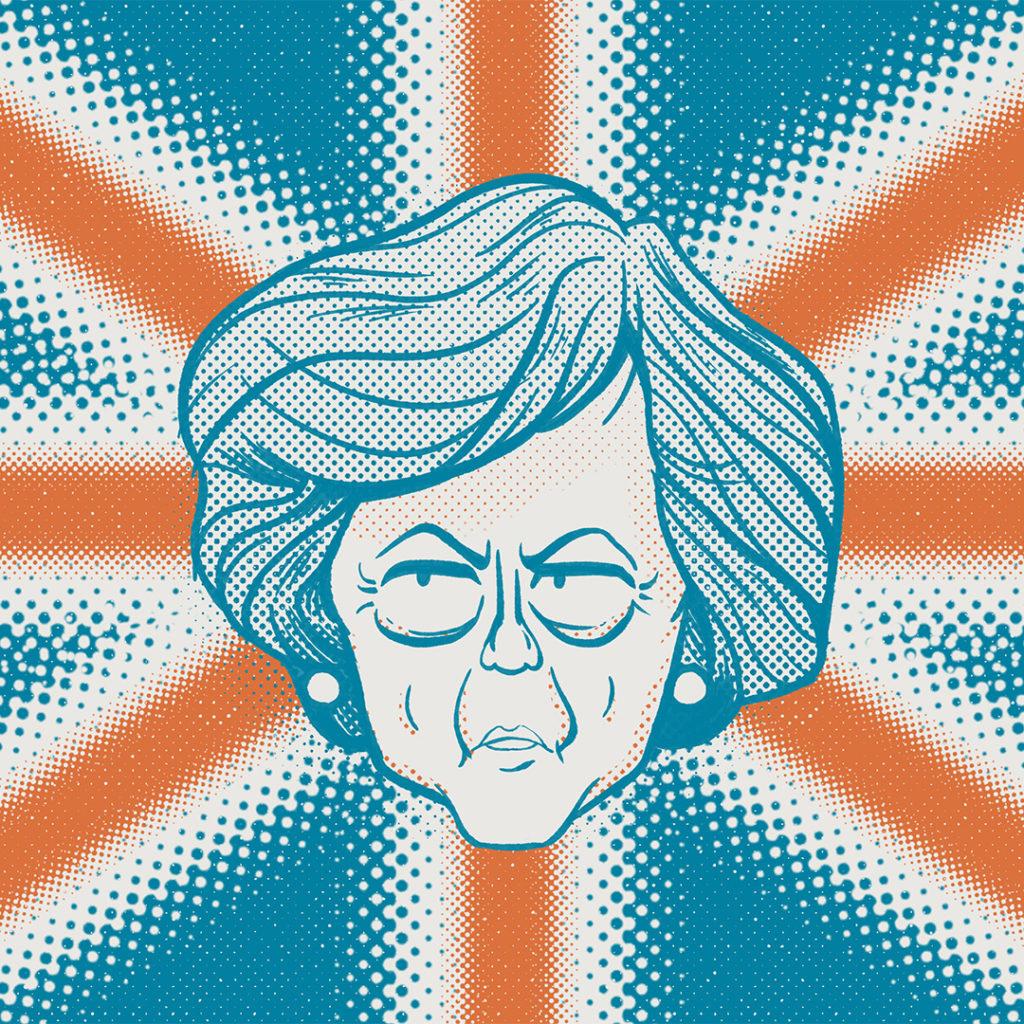 Illustration politique Teressa May