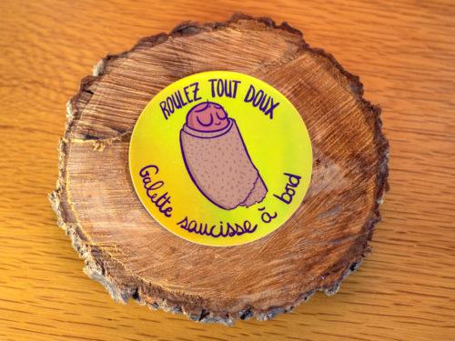 Sticker – Galette saucisse à bord (Jaune)