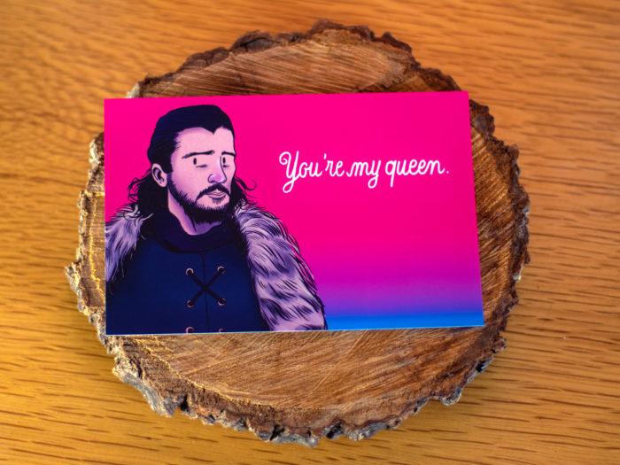 carte postale saint valentin game of thrones - Jon Snow