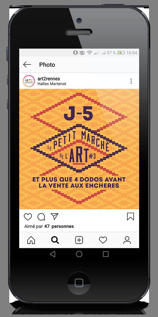 publication instagram Le petit marché de l'art