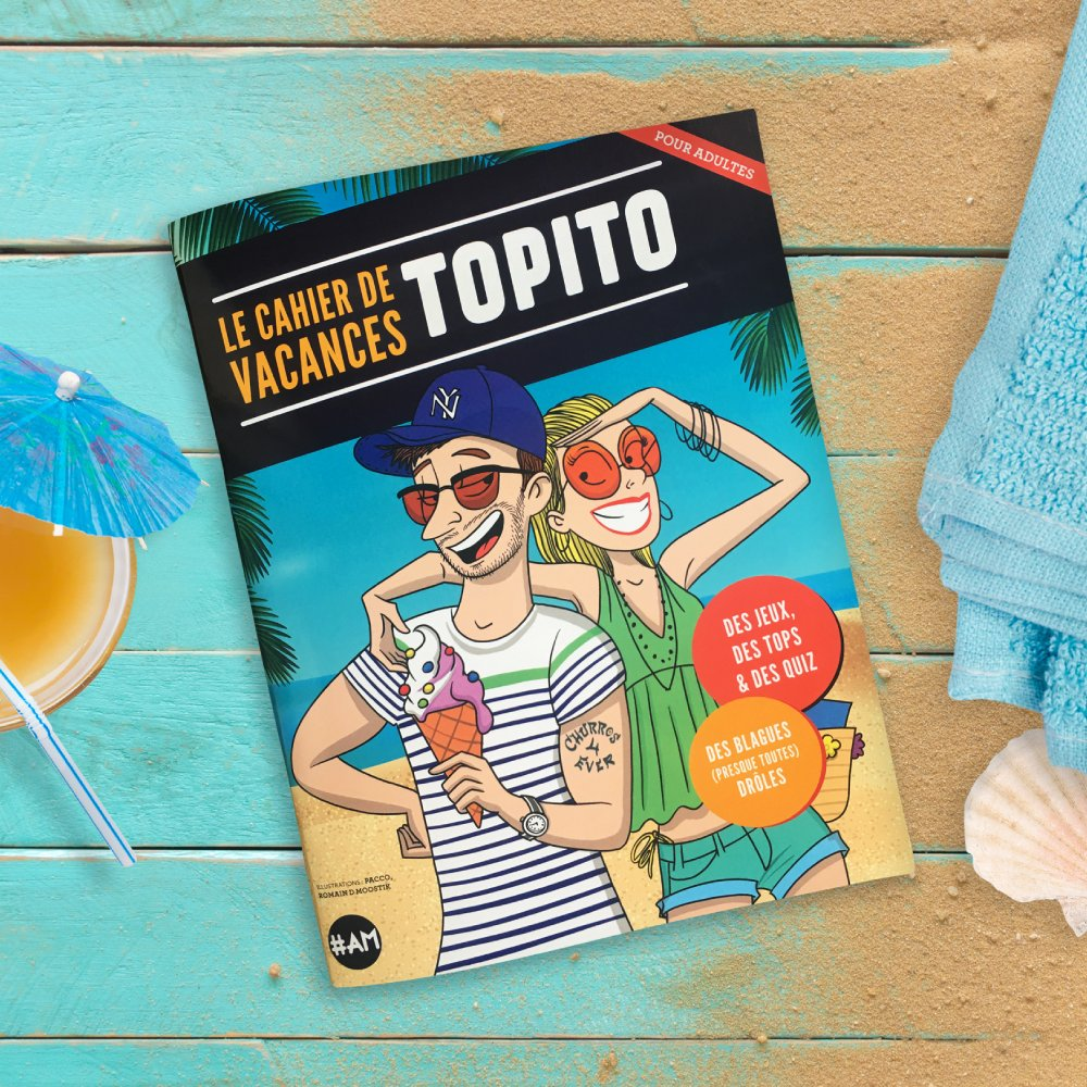 Couverture cahier de vacances Topito