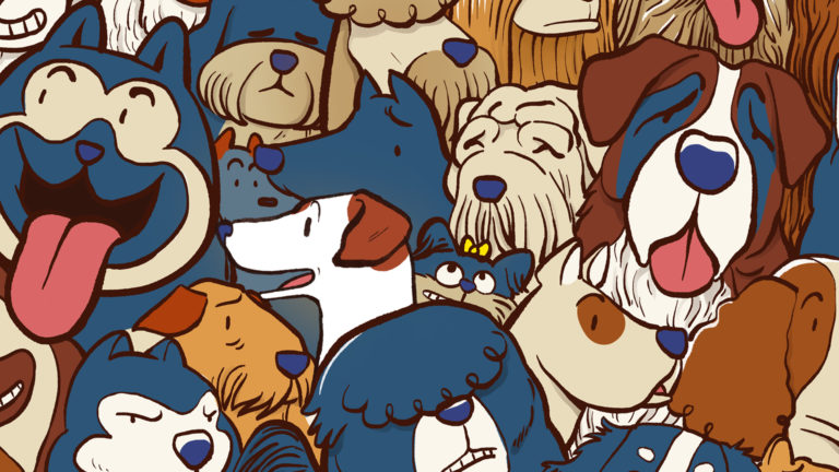 Find Jack - Fido illustration chien - une